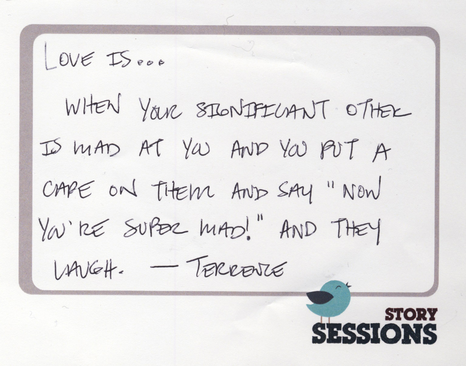 Love letters from the audience | Story Sessions